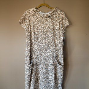 Leopard-Print Pendleton Dress with Pockets (NWT)